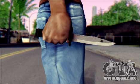 Knife from Death to Spies 3 para GTA San Andreas tercera pantalla
