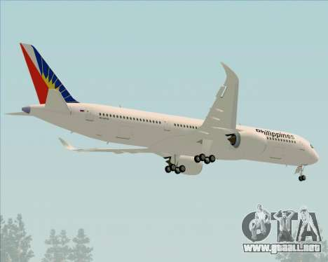 Airbus A350-900 Philippine Airlines para la vista superior GTA San Andreas