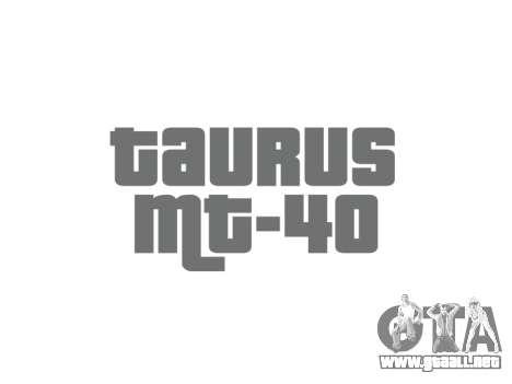 Pistola Taurus MT-40 buttstock2 icon1 para GTA 4 tercera pantalla