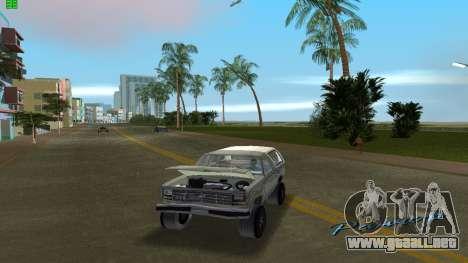 Ford Bronco 1985 para GTA Vice City visión correcta