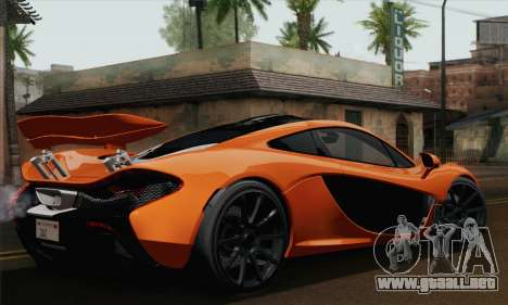 McLaren P1 Black Revel para GTA San Andreas left