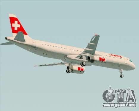 Airbus A321-200 Swiss International Air Lines para la visión correcta GTA San Andreas