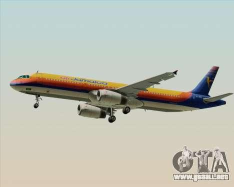 Airbus A321-200 Air Jamaica para la visión correcta GTA San Andreas