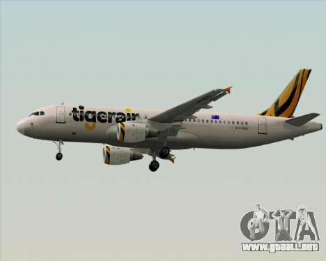Airbus A320-200 Tigerair Australia para vista inferior GTA San Andreas