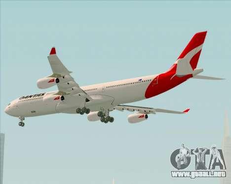 Airbus A340-300 Qantas para GTA San Andreas vista hacia atrás