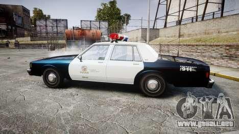 Chevrolet Impala 1985 LAPD [ELS] para GTA 4 left