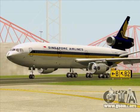 McDonnell Douglas DC-10-30 Singapore Airlines para GTA San Andreas left