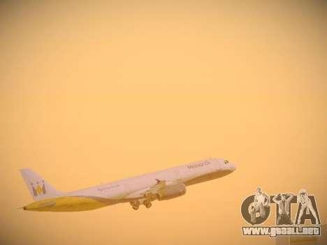 Airbus A321-232 Monarch Airlines para el motor de GTA San Andreas