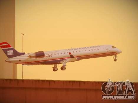 Bombardier CRJ-700 US Airways Express para la vista superior GTA San Andreas