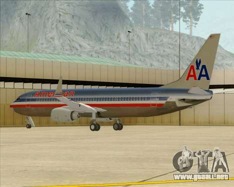 Boeing 737-800 American Airlines para las ruedas de GTA San Andreas