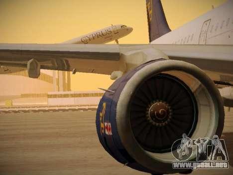 Airbus A321-232 Cyprus Airways para las ruedas de GTA San Andreas