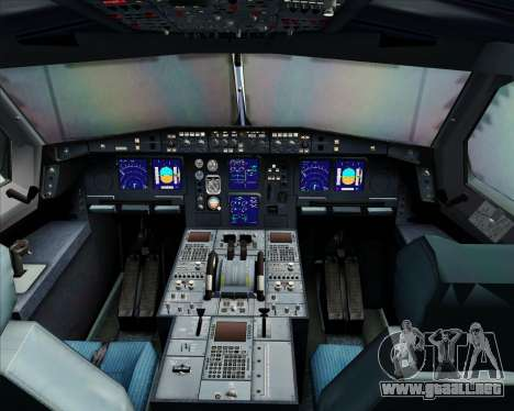 Airbus A340-300 Qantas para GTA San Andreas interior