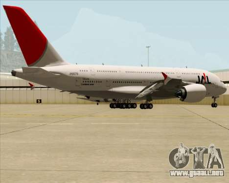 Airbus A380-800 Japan Airlines (JAL) para visión interna GTA San Andreas