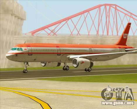 Airbus A321-200 LTU International para vista lateral GTA San Andreas