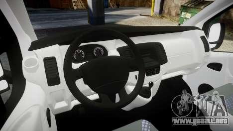 Renault Trafic Police Nationale para GTA 4 vista hacia atrás