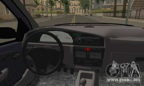 Fiat Palio EDX 1997 para GTA San Andreas vista posterior izquierda