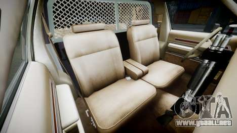 Ford LTD Crown Victoria 1987 Police CHP1 [ELS] para GTA 4 vista interior