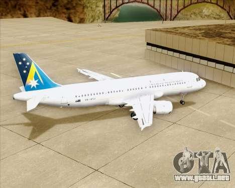 Airbus A320-200 Ansett Australia para la vista superior GTA San Andreas