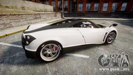 Pagani Huayra 2013 [RIV] Carbon para GTA 4 left