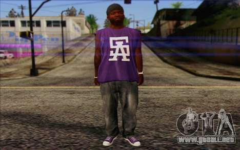 Ballas from GTA 5 Skin 1 para GTA San Andreas