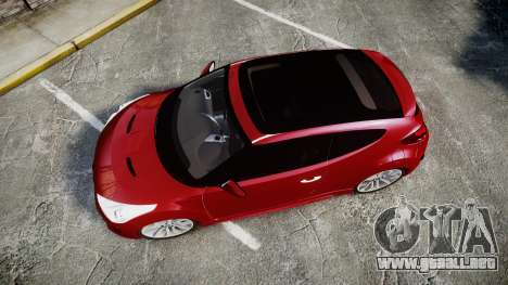 Hyundai Veloster Turbo 2012 para GTA 4 visión correcta