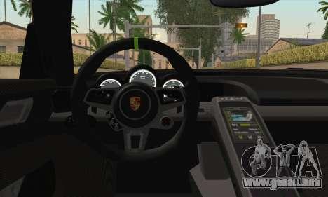 Porsche 918 Spyder 2013 para la visión correcta GTA San Andreas