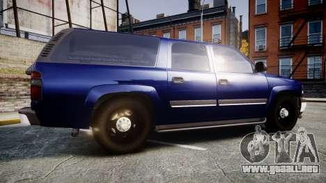 Chevrolet Suburban Undercover 2003 Grey Rims para GTA 4 left