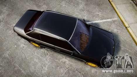 Mercedes-Benz E500 1998 Tuned Wheel Gold para GTA 4 visión correcta