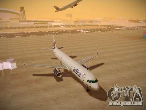 Airbus A321-232 jetBlue I love Blue York para GTA San Andreas vista hacia atrás