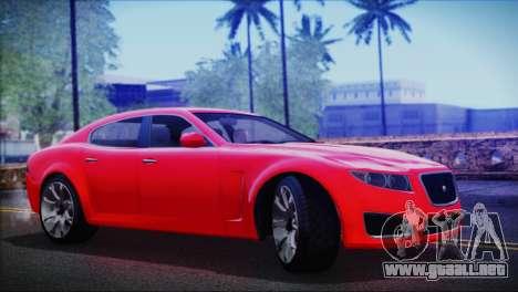 Lampadati Felon para GTA San Andreas vista posterior izquierda