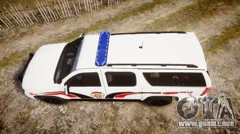 Chevrolet Suburban 2008 Hebron Police [ELS] Blue para GTA 4 visión correcta