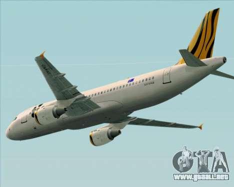 Airbus A320-200 Tigerair Australia para visión interna GTA San Andreas