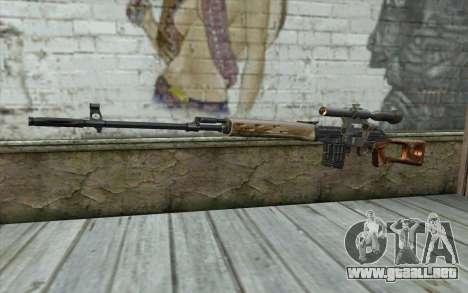 Fusil De Francotirador Dragunov para GTA San Andreas