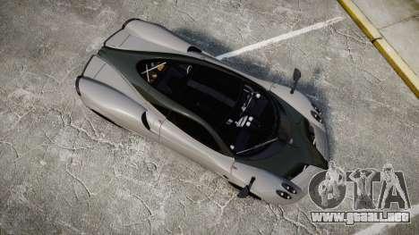 Pagani Huayra 2013 Carbon para GTA 4 visión correcta
