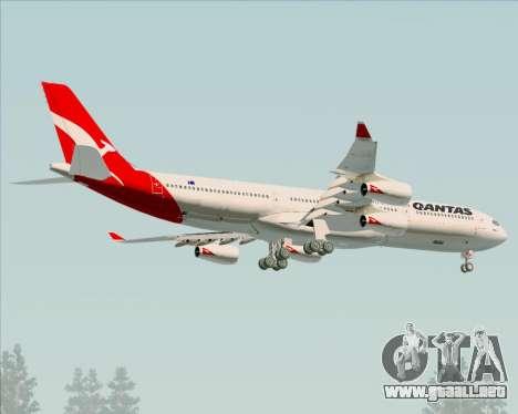 Airbus A340-300 Qantas para las ruedas de GTA San Andreas