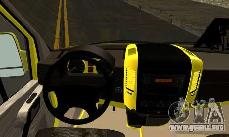 Mercedes-Benz Sprinter Eyüp Caducado para GTA San Andreas vista posterior izquierda