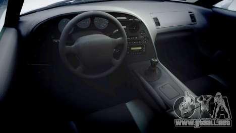 Toyota Supra para GTA 4 vista hacia atrás