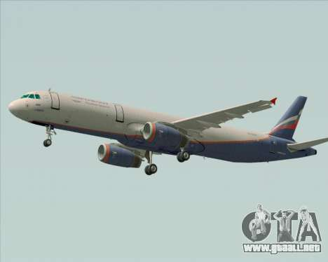 Airbus A321-200 Aeroflot - Russian Airlines para GTA San Andreas vista posterior izquierda