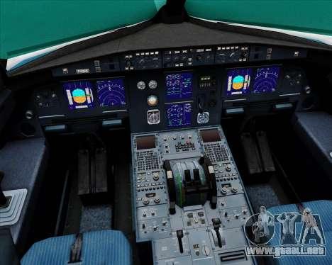 Airbus A321-200 Vietnam Airlines para GTA San Andreas interior