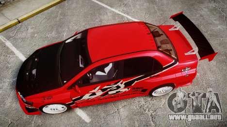 Mitsubishi Lancer Evolution IX Fast and Furious para GTA 4 visión correcta