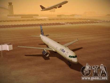 Airbus A321-232 jetBlue Do-be-do-be-blue para la vista superior GTA San Andreas
