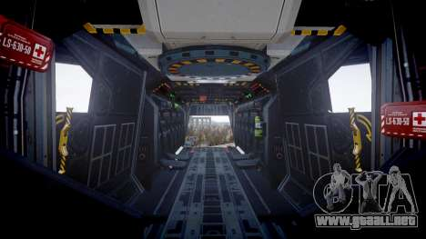 VTOL Warship PJ1 para GTA 4 vista hacia atrás