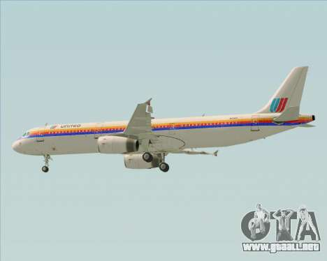 Airbus A321-200 United Airlines para el motor de GTA San Andreas