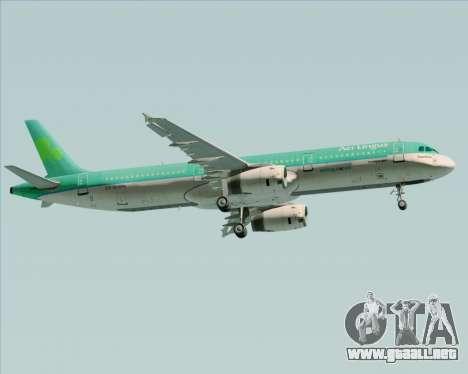 Airbus A321-200 Aer Lingus para GTA San Andreas vista hacia atrás