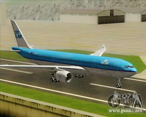 Airbus A330-200 KLM - Royal Dutch Airlines para visión interna GTA San Andreas