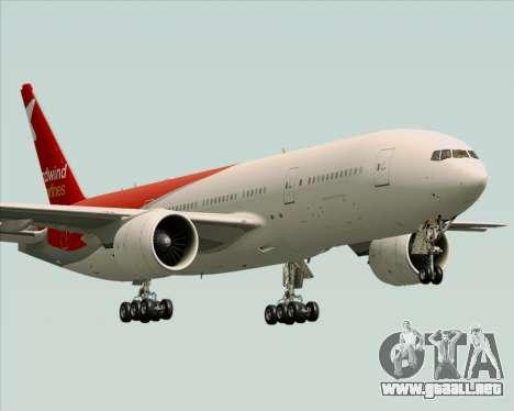 Boeing 777-21BER Nordwind Airlines para la vista superior GTA San Andreas