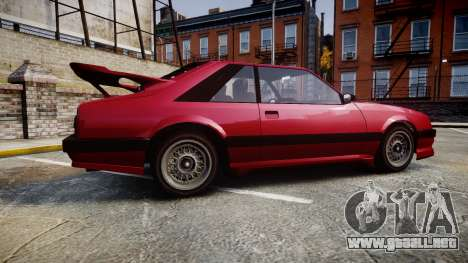 Vapid Uranus Custom para GTA 4 left