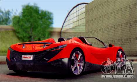 Specter Roadster 2013 para GTA San Andreas left