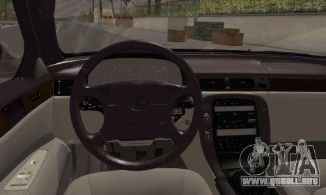 Lexus SC300 para GTA San Andreas vista posterior izquierda