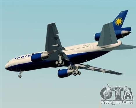 McDonnell Douglas DC-10-30 VARIG para vista lateral GTA San Andreas